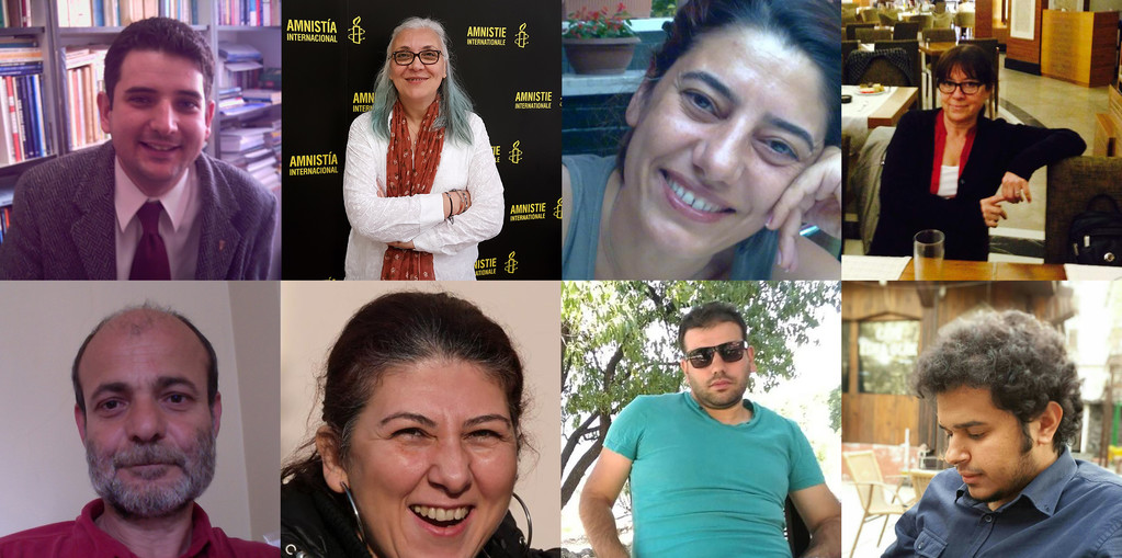 Header image montage of the detained HRDs in Turkey July 2017